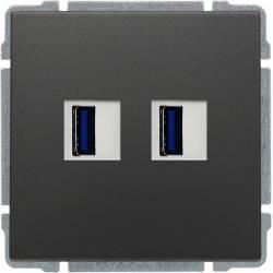 666057 Ładowarka USB 2 x...