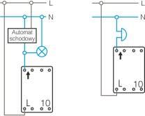 Schemat połączeń przycisk światło - dzwonek
