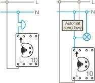 Schemat połączeń przycisk światło