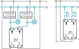 Schemat połączeń przycisk podwójny