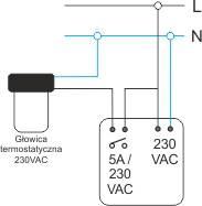 Schemat połączeń regulatora temperatury