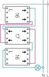 Schemat połączeń Wyłącznik krzyżowy