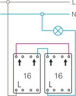 Schemat połączeń wyłącznik schodowy