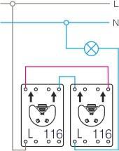 Schemat połączeń wyłącznik uniwersalny